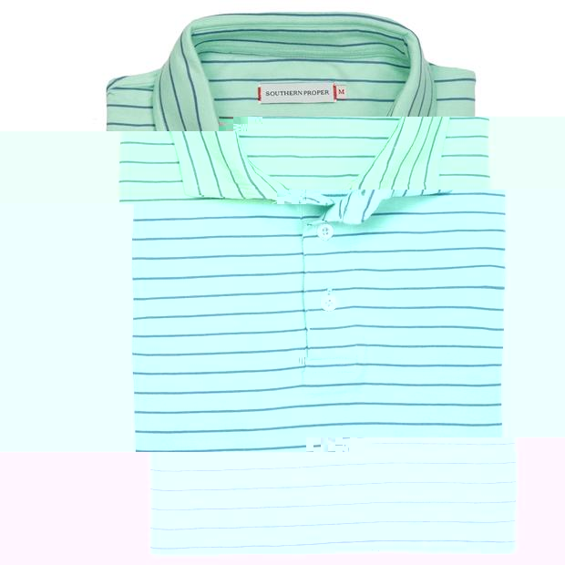 Smilethealbum - Covington Polo: Brook Green Stripe