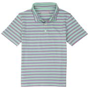 Smilethealbum - Boys - Covington Polo: Orchid Stripe