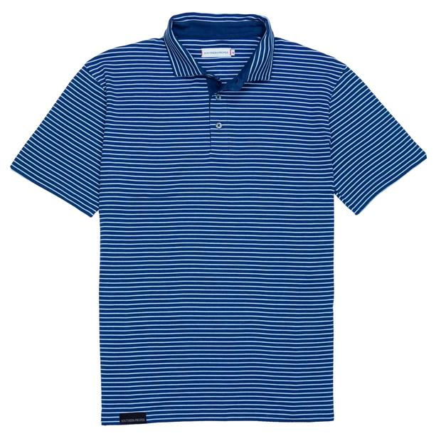 Smilethealbum - Covington Polo: Patriot Blue / Porch Blue Stripe