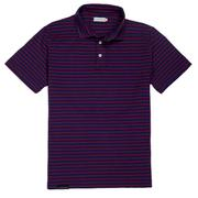 Smilethealbum - Covington Polo: Patriot Blue / Red Stripe