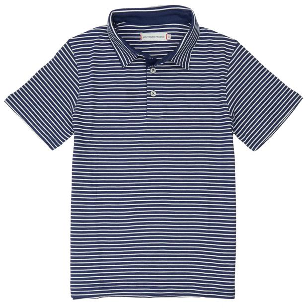 Smilethealbum - Boys - Covington Polo: Patriot Blue / Porch White Stripe