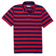 Smilethealbum - Covington Polo: Proper Red Stripe