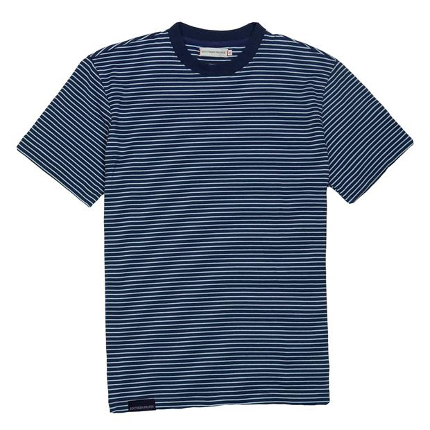 Smilethealbum - Deck Tee: Patriot Blue / Porch Blue Stripe