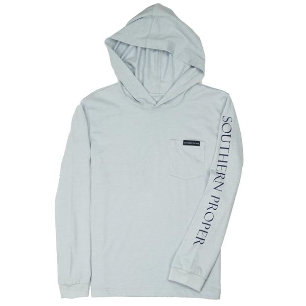 Smilethealbum - Boys - Hoodie Long Sleeve Tee: Heather Grey Dawn