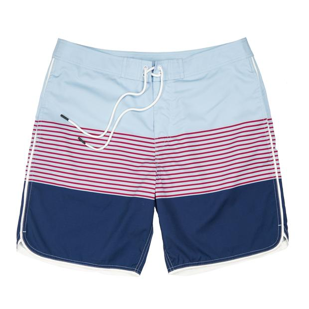 Smilethealbum - Seaside Swim Short: Skyway Stripe