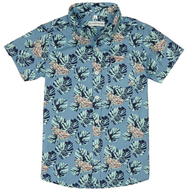 Smilethealbum - Boys - Social Shirt: Frog Palm