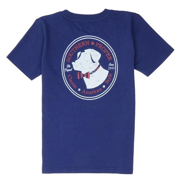 Smilethealbum - Boys - American Lab Tee: Patriot Blue