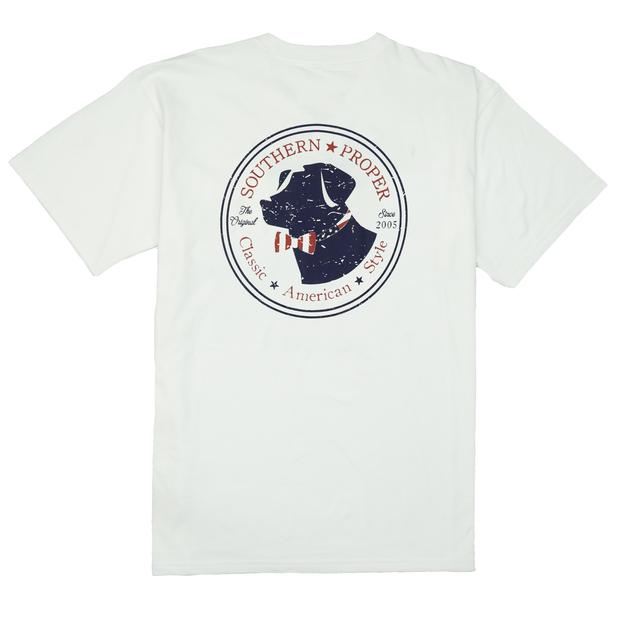 Smilethealbum - American Lab Tee: White