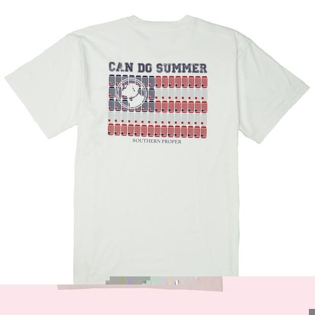 Smilethealbum - Can Do Summer Tee: White