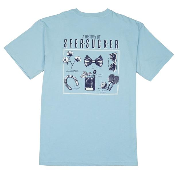 Smilethealbum - History of Seersucker Tee: Porch Blue