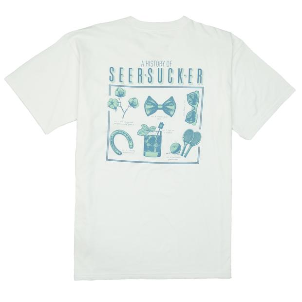 Smilethealbum - History of Seersucker Tee: White