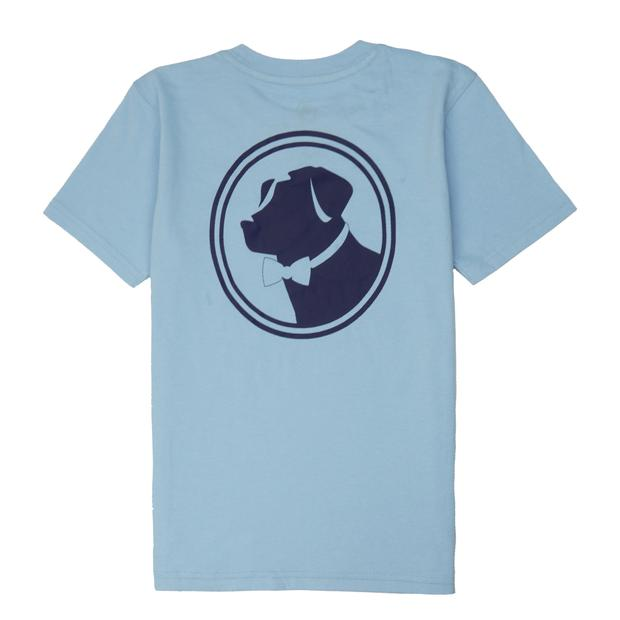 Smilethealbum - Boys - Original Logo Tee: Porch Blue