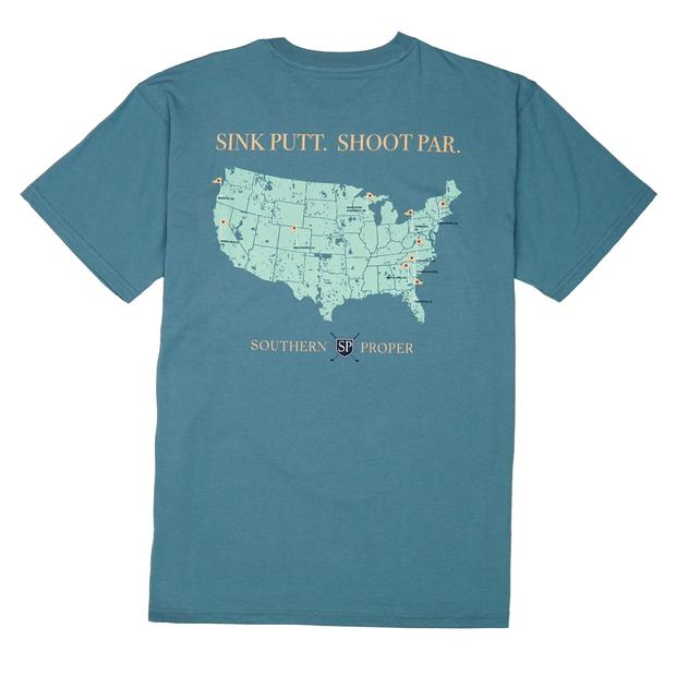 Smilethealbum - Sink Putt. Shoot Par. Tee: Blue Shadow