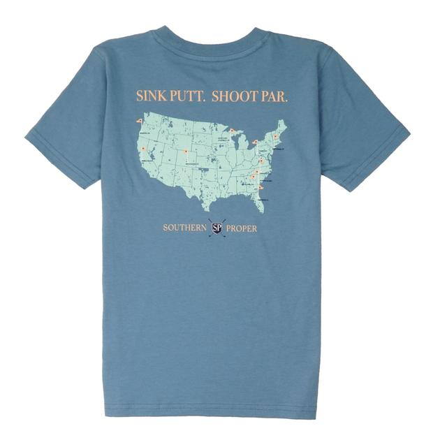 Smilethealbum - Boys - Sink Putt. Shoot Par. Tee: Blue Shadow