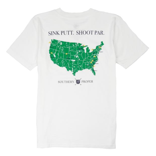 Smilethealbum - Boys - Sink Putt. Shoot Par. Tee: White