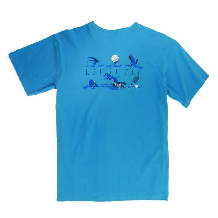 Smilethealbum - Let It Fly Tee: May River Blue