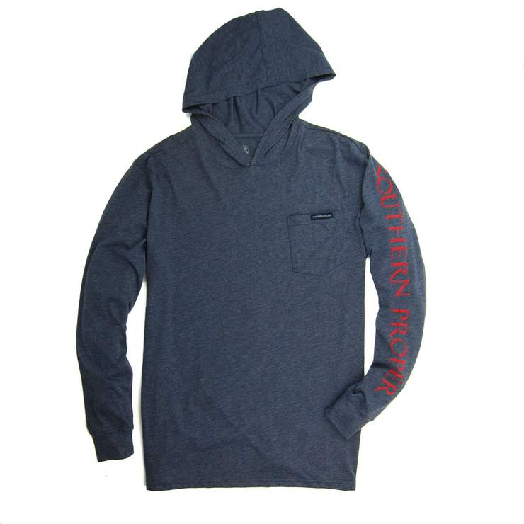 Smilethealbum - Hoodie Tee: Heather Proper Navy