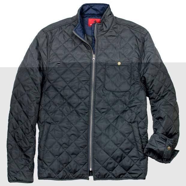 Smilethealbum - Ashport Quilted Jacket: Charcoal