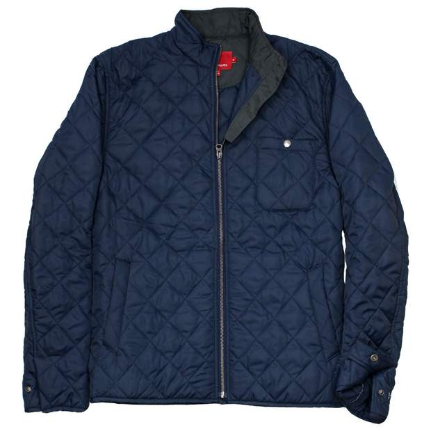 Smilethealbum - Ashport Quilted Jacket: Proper Navy