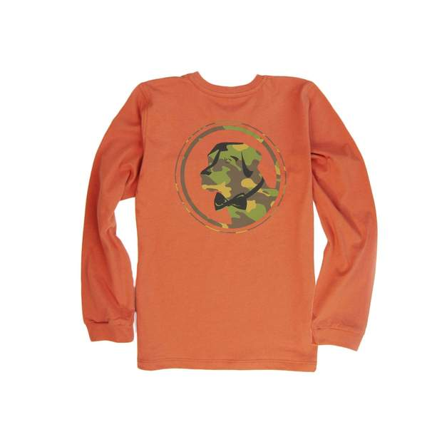 Smilethealbum - Boys - Camo Lab Long Sleeve Tee: Maple