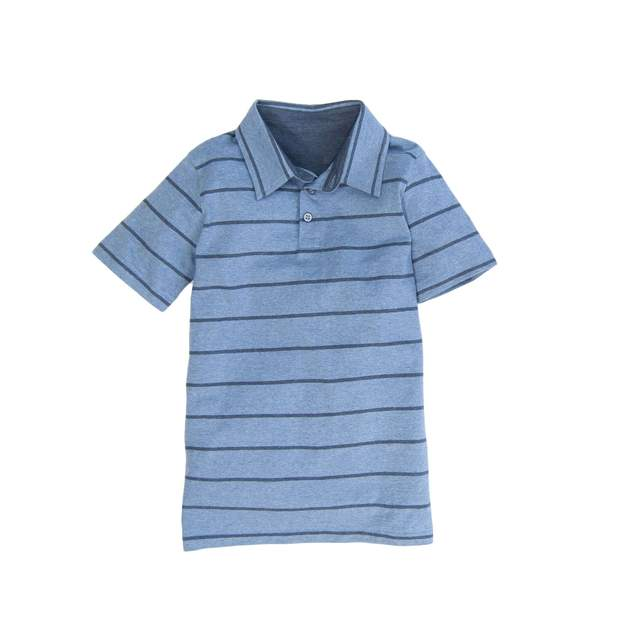 Smilethealbum - Boys - Covington Polo: Denim Stripe