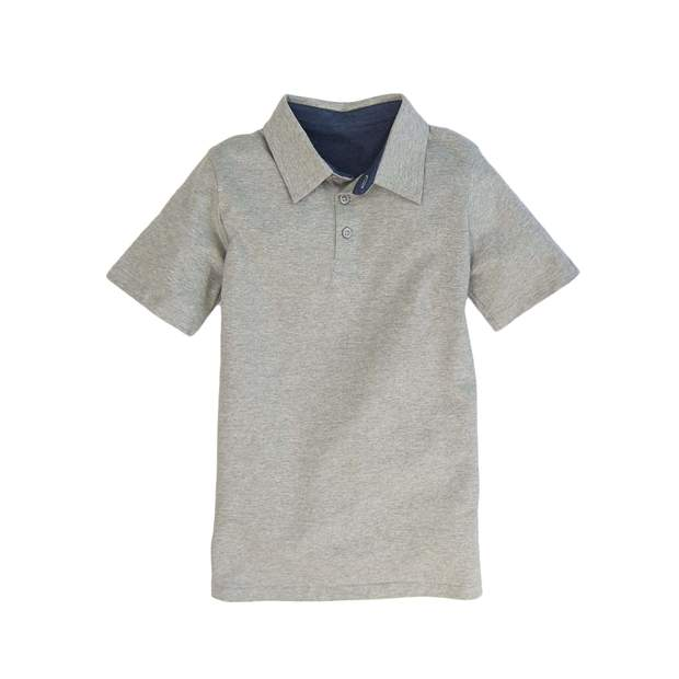 Smilethealbum - Boys - Covington Polo: Heather Proper Grey