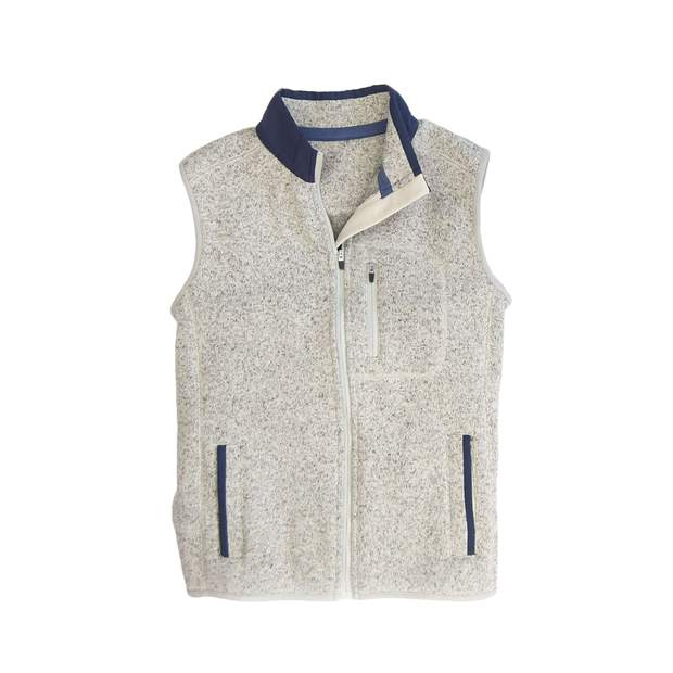 Smilethealbum - Boys - Field Fleece Vest: Heather Proper Grey