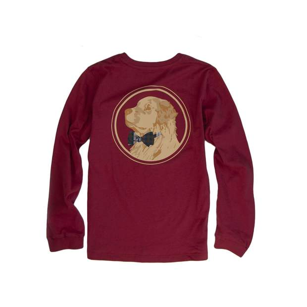 Smilethealbum - Boys - Golden Logo Long Sleeve Tee: Barn Red