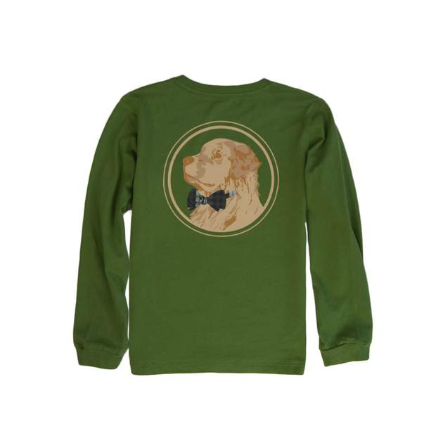 Smilethealbum - Boys - Golden Logo Long Sleeve Tee: Kudzu