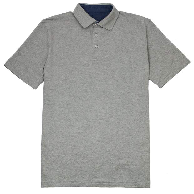 Smilethealbum - Covington Polo: Heather Proper Grey