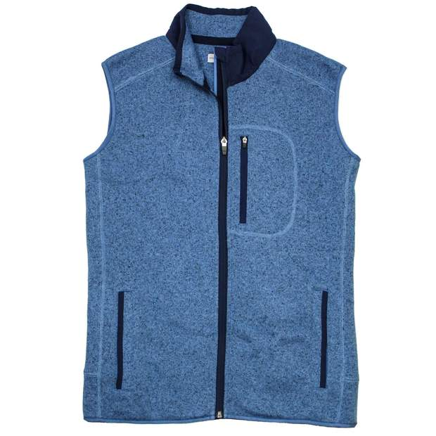 Smilethealbum - Field Fleece Vest: Heather Denim