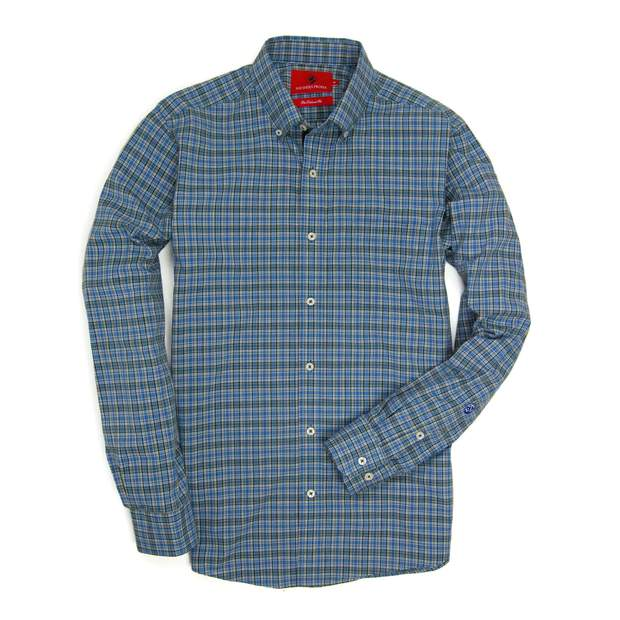 Smilethealbum - Henning Shirt - Blue Stone/Sage Green Plaid