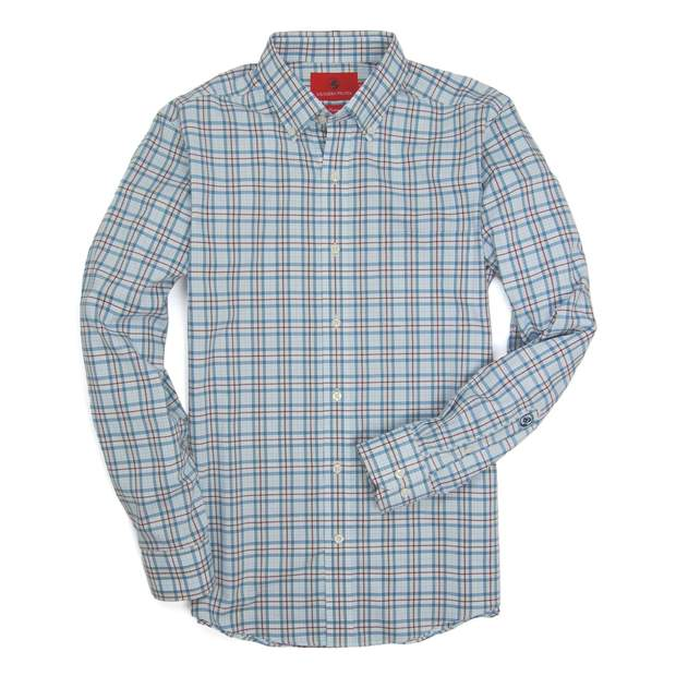 Smilethealbum - Henning Shirt - Blue Stone/Truffle Plaid