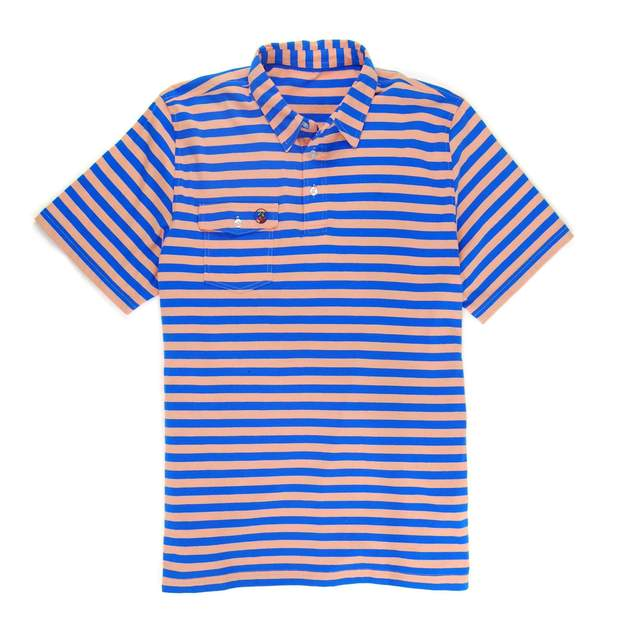 Smilethealbum - Proper Polo: Sunset/Paddle Blue Stripe